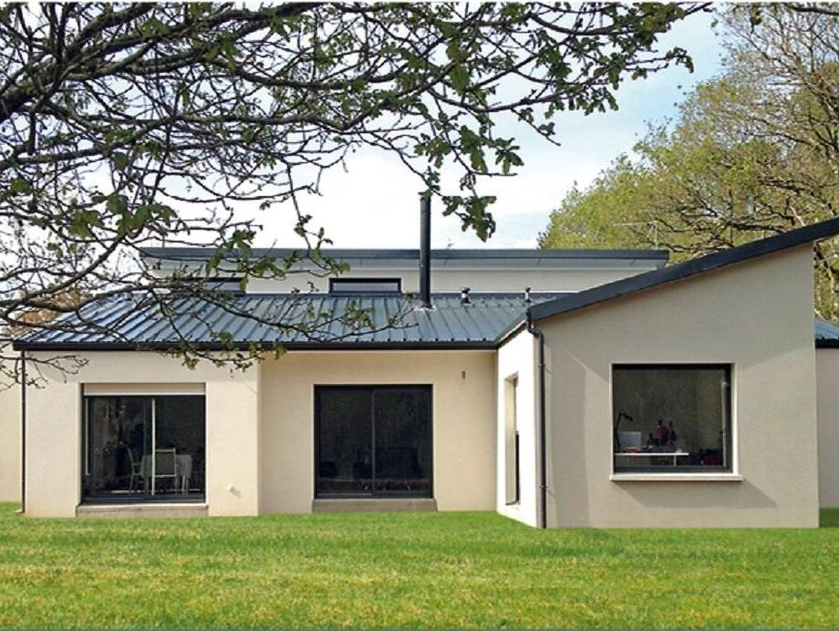 Maison neuve vente maison bois rt 2012 plain pied en for Maison neuve vente