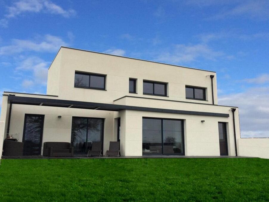 Maison neuve vente maison bois rt 2012 plain pied en - Maison neuve en bois ...