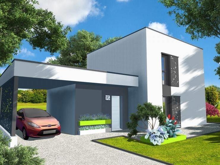 Maison neuve – achat maison bois, RT 2012, plain-pied : OuestFrance-Immo